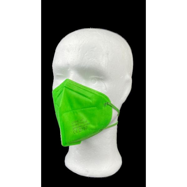 Kunshops ShineYa FFP2 NR Atemschutzmaske - Grün / 10 Stk