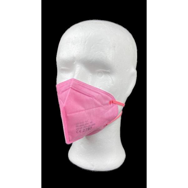 Kunshops ShineYa FFP2 NR Atemschutzmaske - Rosa / 10 Stk
